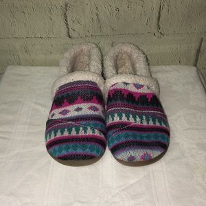 Toms youth wool Fair Isle shoes